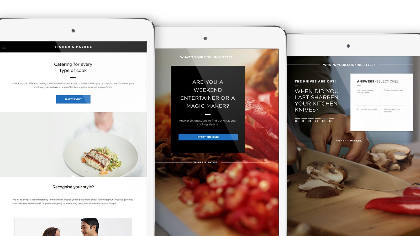 Fisher & Paykel | Fisher & Paykel website on tablet | Devotion