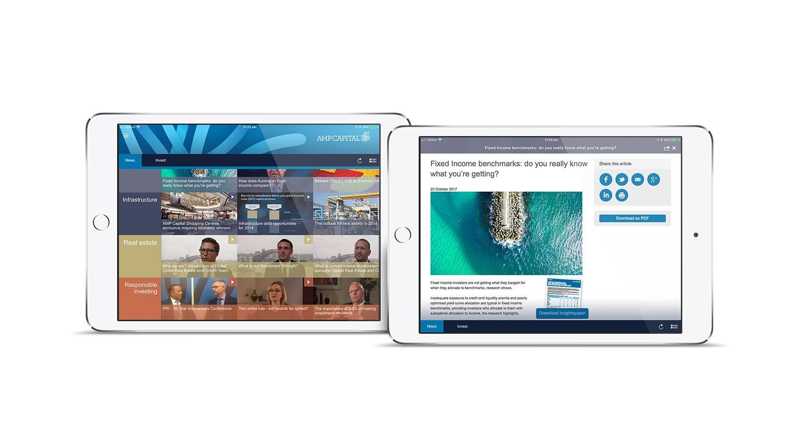 AMP   AMP Capital website on tablet   Devotion