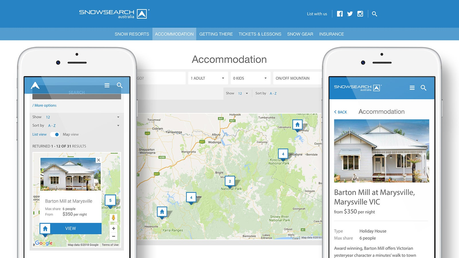 Snowsearch | accommodation page | Devotion