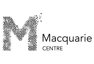 Macquarie Centre black and white logo | Devotion