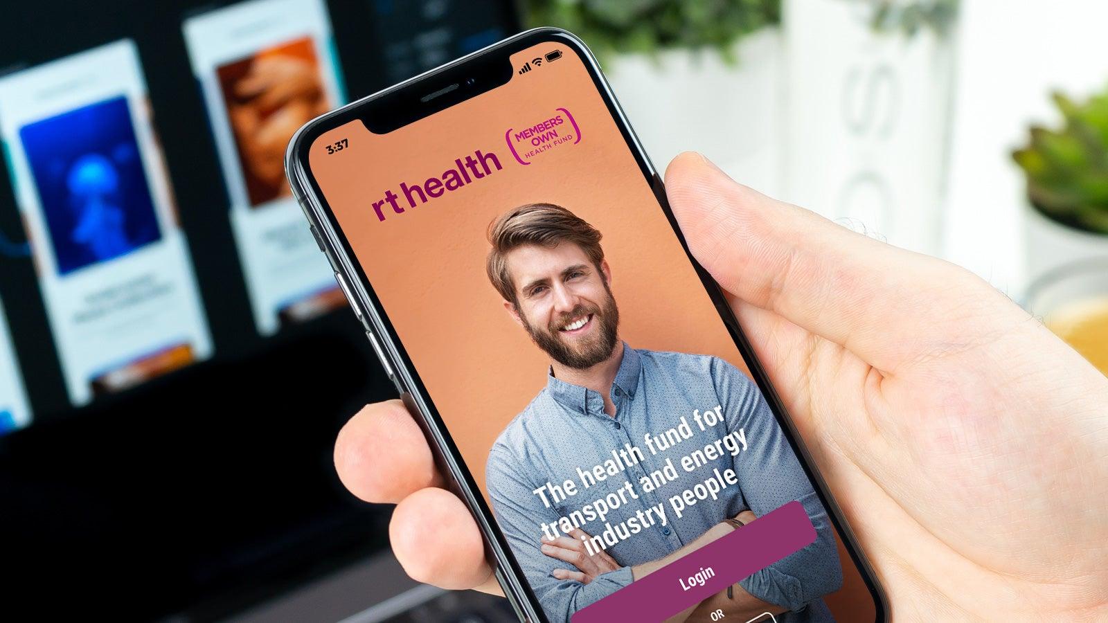 rt health   mobile app landing page   Devotion